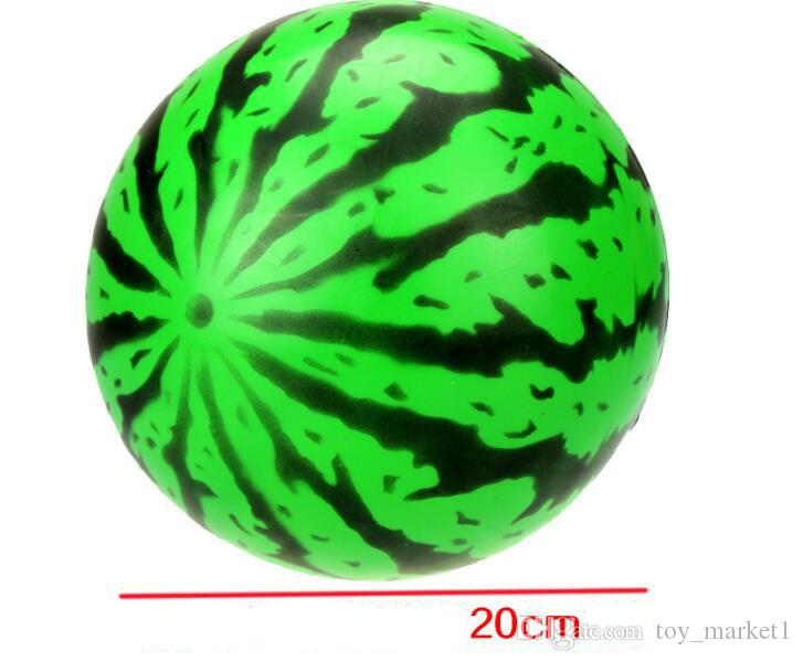 20cm Inflatable Large Watermelon Beach Ball Multicolor Outdoor Beach Ball Water Sports Balloon Water Toy Child Summer Best Toy