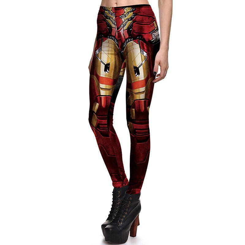 fe5111ccf3335 2019 New Sexy Girl Women Leggings Plus Size Femme Pencil Pant Superhero The Avengers  Iron Man Prints Slim Elastic Fitness Leggings 3759 From Xianglong_dh, ...