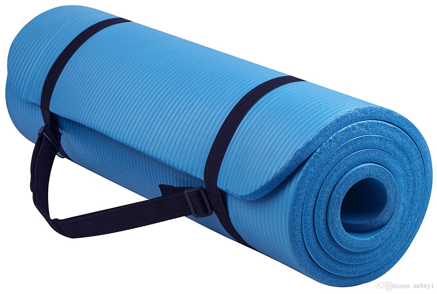 8cd339577 2019 GoYoga All Purpose 1 2 Inch Extra Thick High Density Anti Tear  Exercise Yoga Mat With Carrying Strap From Guxu