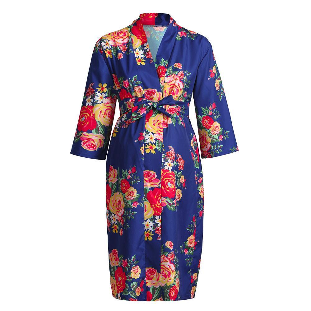 aa2f69012f8b8 2019 MUQGEW Women Maternity Nursing Nightgown Breastfeeding Nightshirt  Floral Sleepwear Dress Labor/Delivery / Nursing Hospital Gown From Breenca,  ...