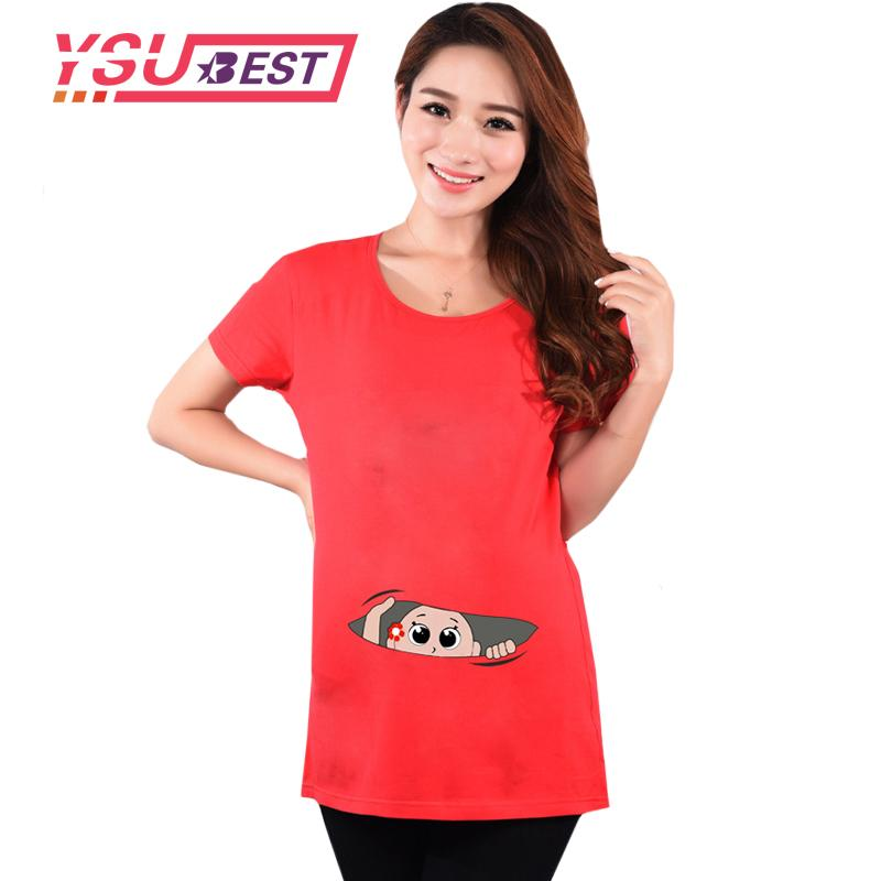 2018 Summer Funny Pregnancy T Shirts For Pregnant Women Maternity ...