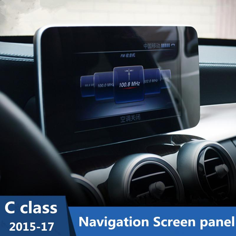Car Styling Navigation Screen Protection Panel Cover Trim For