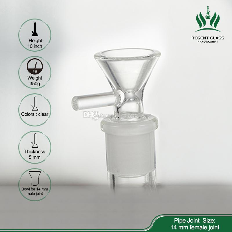 New Arrival Glass Bong Assemble Glass pipes Water Pipe Large Recycler with Removable Perc clip