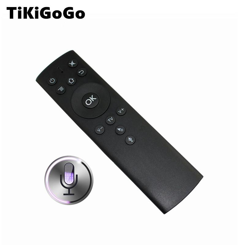 992266ea12d Tikigogo Gyroscope 2.4G Wireless Air Mouse With Voice Search Microphone  Better Than Air Mouse T2 For Android 8.1 Tv Box Brasil Remote Controll Tv  Controller ...