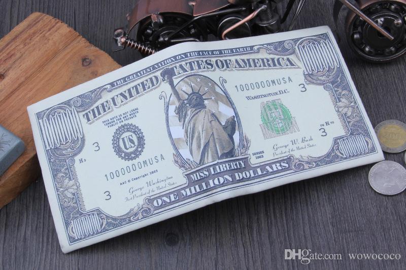 الدولار الأعمال PU الولايات المتحدة للرجال محافظ بطاقة الائتمان محفظة BIFOLD 3 نمط جودة عالية A393