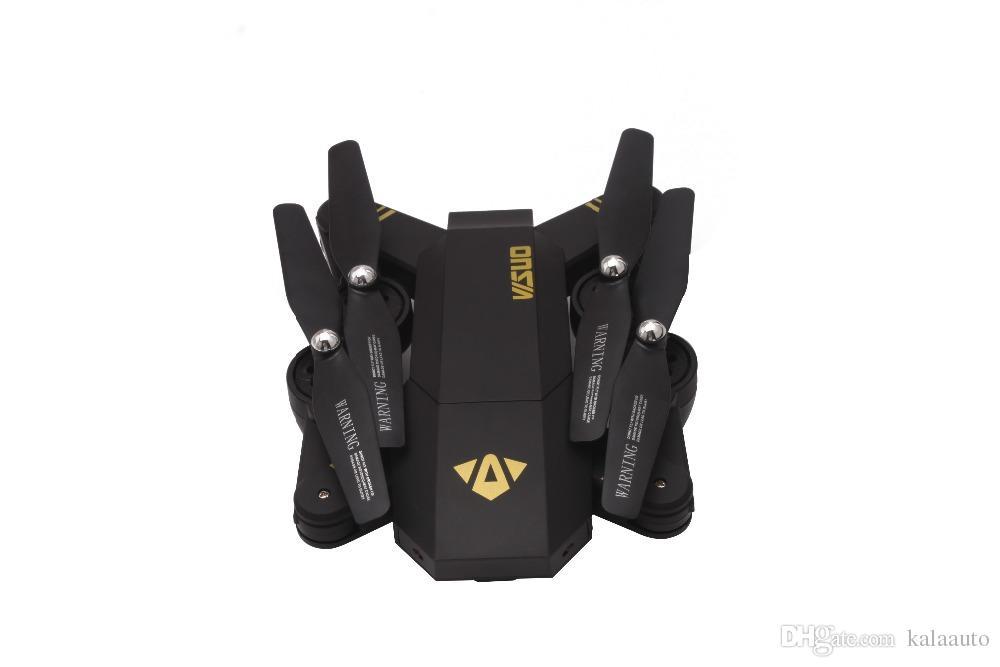 2018 vendita calda XS809HW RC Drone Mini pieghevole Selfie Drone con Wifi FPV REAL TIME 2MP HD fotocamera Altitude Hold Quadcopter Hot Xmas regalo