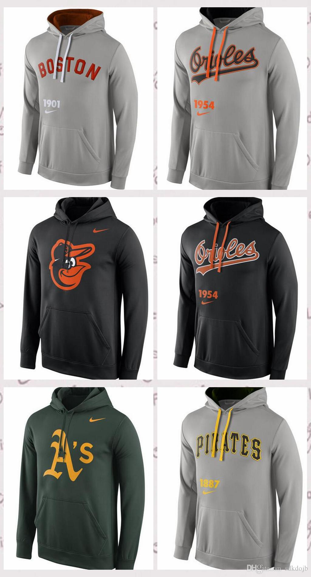 new styles 90c14 5abf8 Men's Oakland Athletics Boston Red Sox Pittsburgh Pirates Baltimore Orioles  Cooperstown Performance Pullover Hoodie