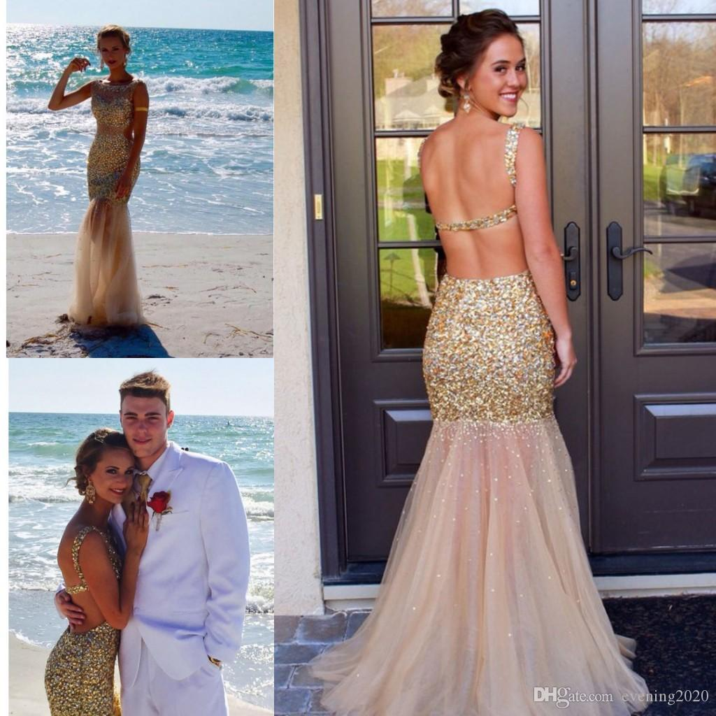 1d031ee73d0cd Brilliant Mermaid Prom Dresses Scoop Sleeveless Floor Length Sexy Back  Special Occasion Dresses Popular Evening Dresses Resale Prom Dresses Shop  Prom ...