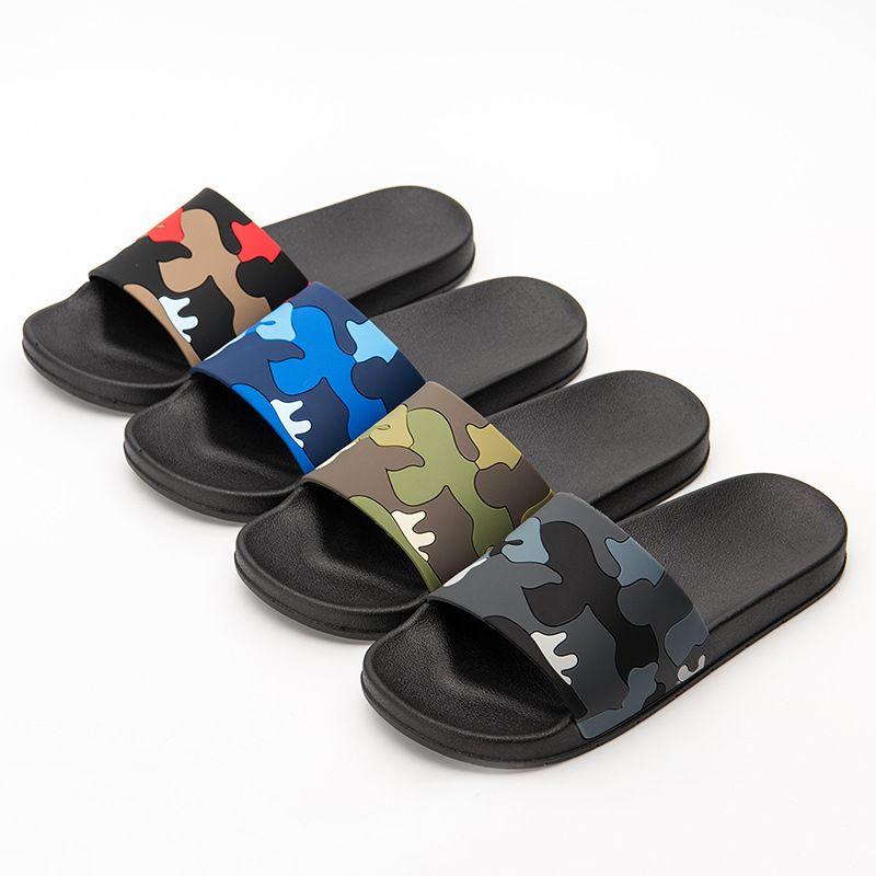 c66166b41ca49 Fashion Camouflage Printed Slippers Summer Flip Flops Sandals Men Women  Unisex Outdoor Casual Flat Beach Slipper NNA656