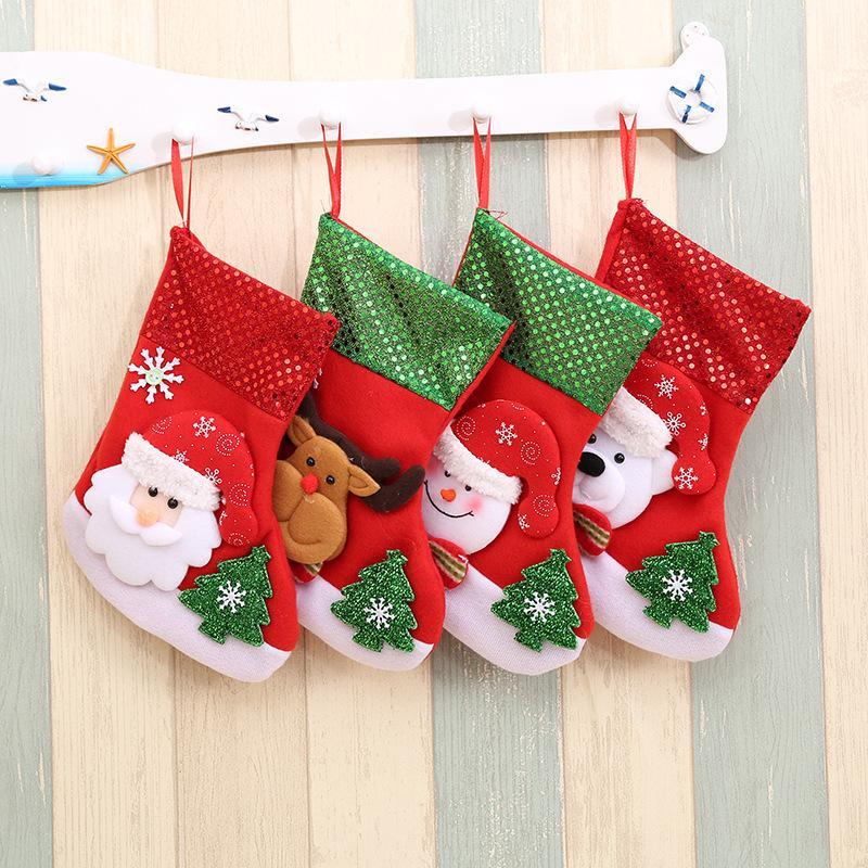 Großhandel Weihnachtsstrumpf Geschenk Tasche Ren Weihnachtsmann ...