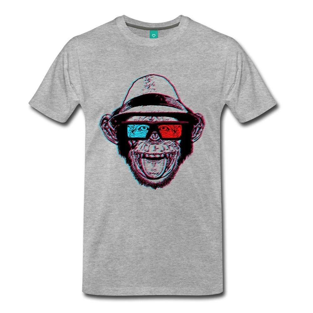 0899e58f82245f Tee Shirt Printing Design Men Crew Neck Hipster Chimp Chimpmaster ...