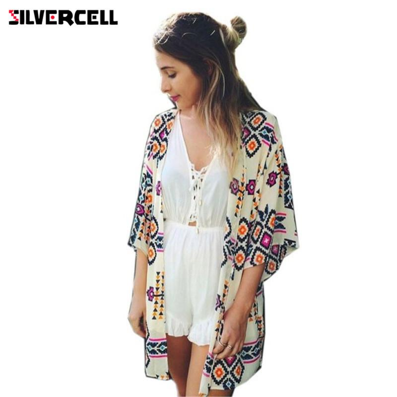 d803362f2b613 2019 SILVERCELL Summer Boho Cardigan Women Shirt Tops Blouses Casual  Camisas Femininas Blusas Kimono Cardigan Female Plus Size From Vanilla04,  ...