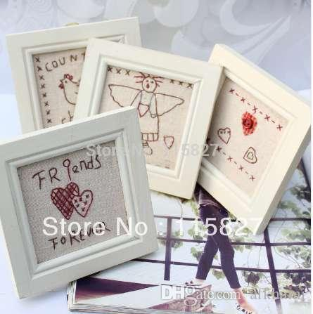 Wooden Photo Frame Wooden Picture Frame House Decoration Embroidery ...