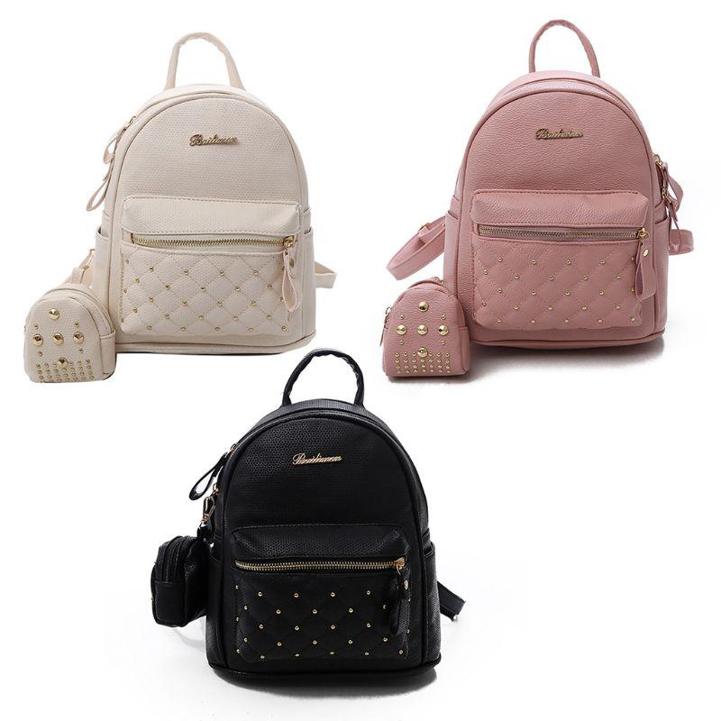 24e638789dcc16 Summer New Retro Vintage Lady PU Leather Small Bag Women S Mini School Bags  For Teens Women S Rucksack Backpack Bag Backpacks For Teens Cheap Backpacks  From ...
