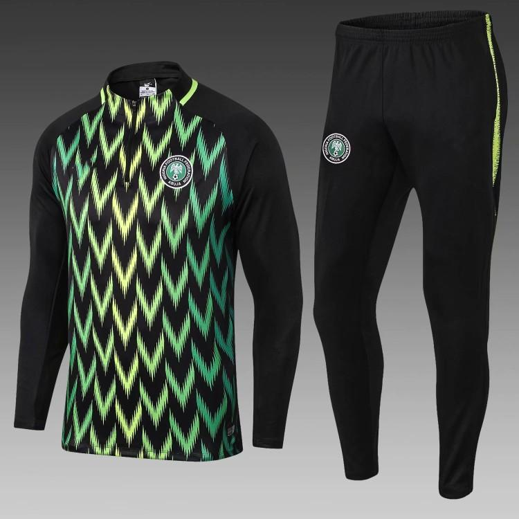 promo code 86e86 9591e Nigeria Training Suit Soccer Jersey Tracksuit Sets Home Football Kit  National Team Uniform Pant World Cup 2018 Camisas de Futebol Camisetas