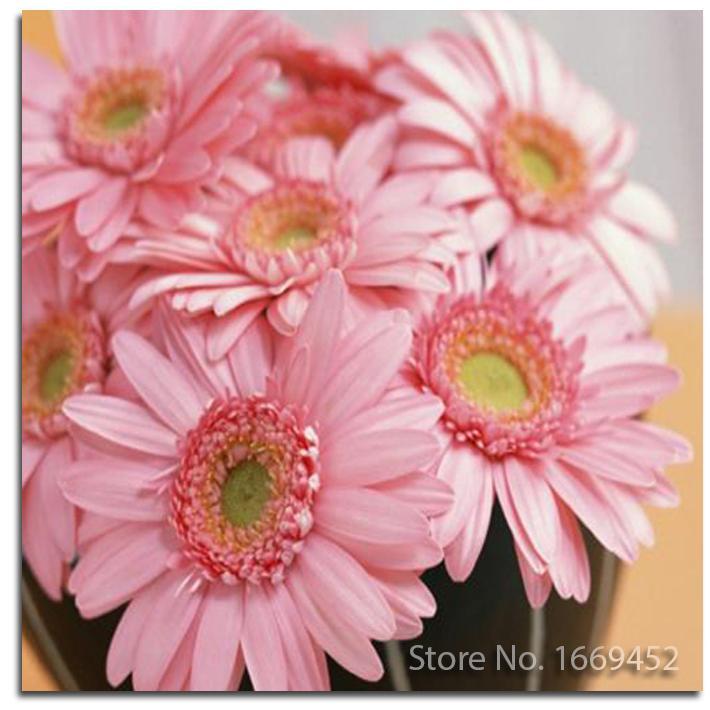 Satın Al Toptan Elmas Nakış çiçek 5d Elmas Boyama Pembe Papatya