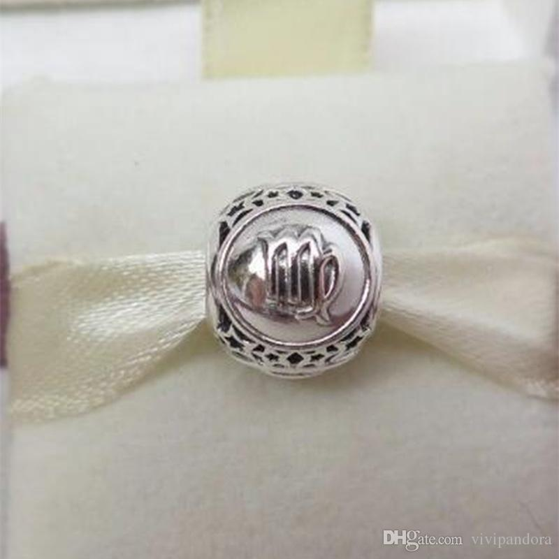 b9bf3e717 2019 100% 925 Sterling Silver Virgo Star Sign Charm Bead Fit European  Pandora Style Jewelry Bracelets & Necklaces From Vivipandora, $17.06 |  DHgate.Com
