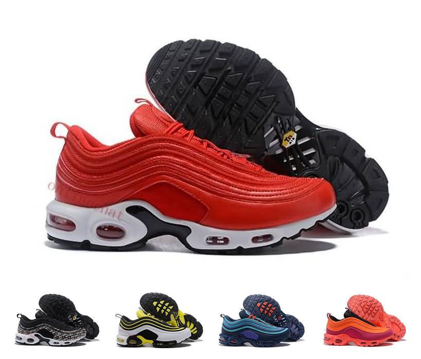 93cfc30a3aaa Top Qualtiy Mens 97 Plus Running Shoes Zapatillas Hombre 97s Tn ...