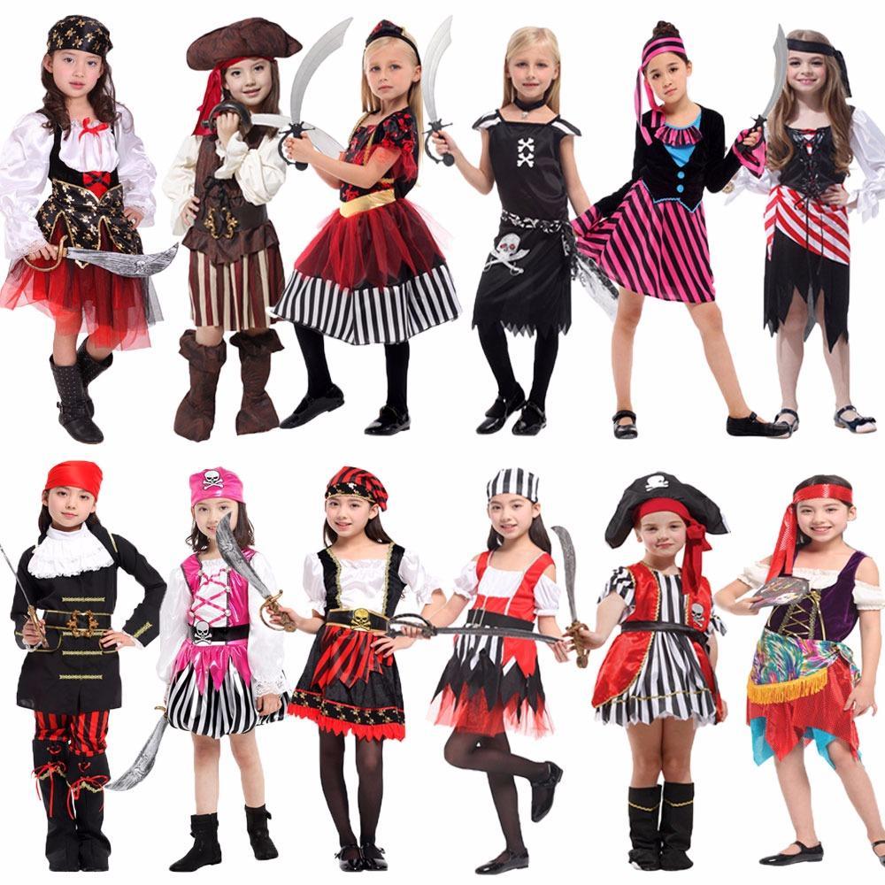 5a38c44a031b0 Acheter Accessoires Costumes De Cosplay Costume Umorden Halloween Carnaval  Pour Filles Filles Enfants Enfants Costumes De Pirate Fantasia Infantil  Cosp .