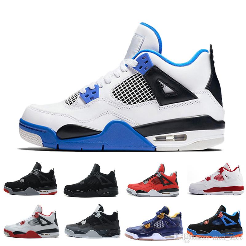 ec608482d220 4 4s Mens Basketball Shoes Black Cat Bred Oreo Fear Pack Royalty Toro Bravo  Angry Bull Military Blue White Alternate 89 Cavs Sports Sneakers Sneakers  Shoes ...