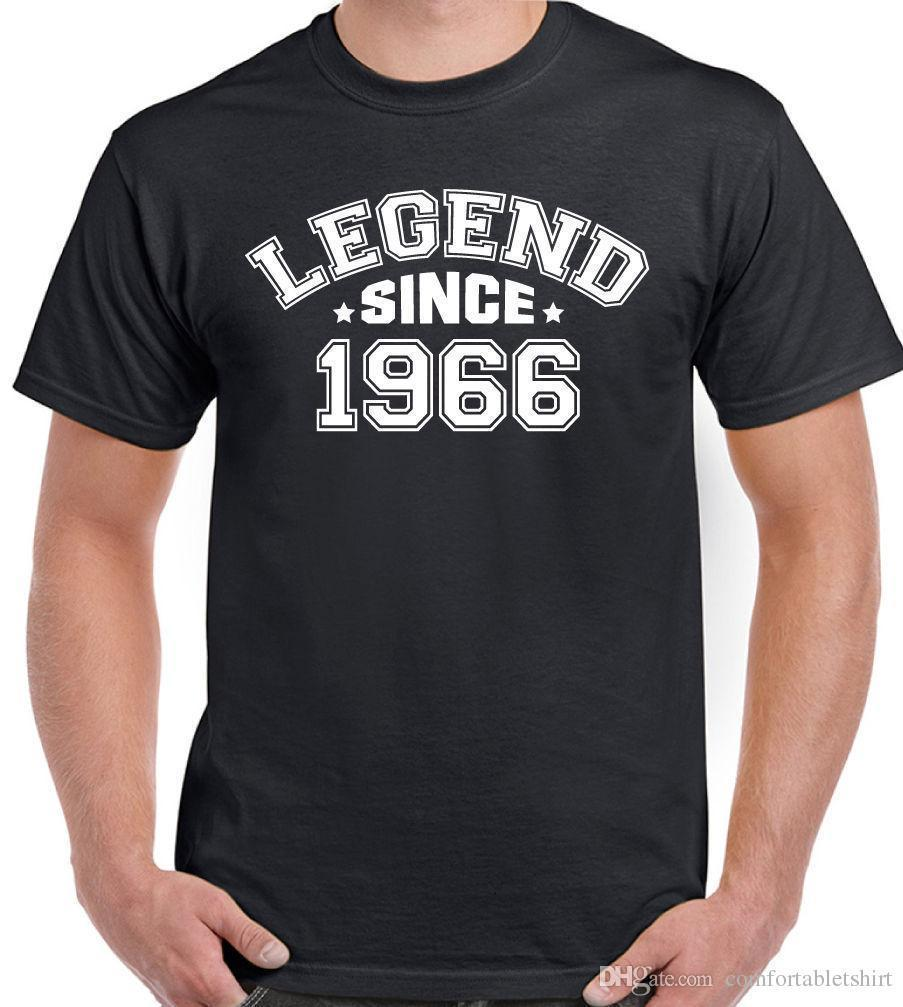 LEGEND SINCE 1966 MenS 50th Birthday T Shirt Funny Sites Crazy Sayings From Lijian088 1208
