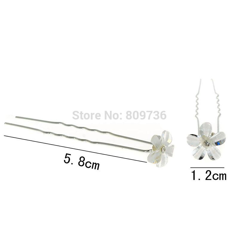 Chic Bridal Wedding Hair Pin Flower Hair Clips Bridesmaid Women Hair Accessories Jewelry Wholesale Cheap Free
