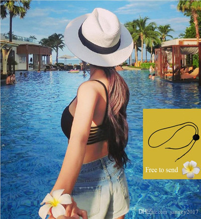 bf90881969aae0 Newest Vintage Women Wide Brim Hats Girls Teen Lady Travel Beach Holiday  Straw Bowknot Sun Hat Caps Fashion Accessories Online with $45.8/Piece on  ...