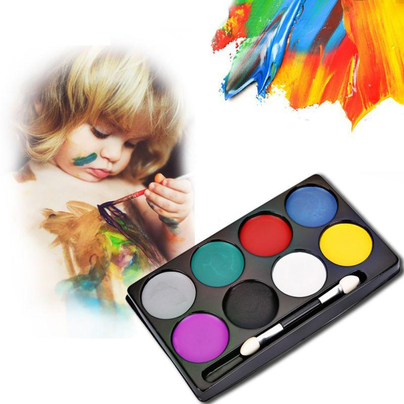 New Fashion Flash Tattoo Face Body Paint Oil Painting Art Non-toxic Water Paint Oil Halloween Party Makeup Face Painting Set