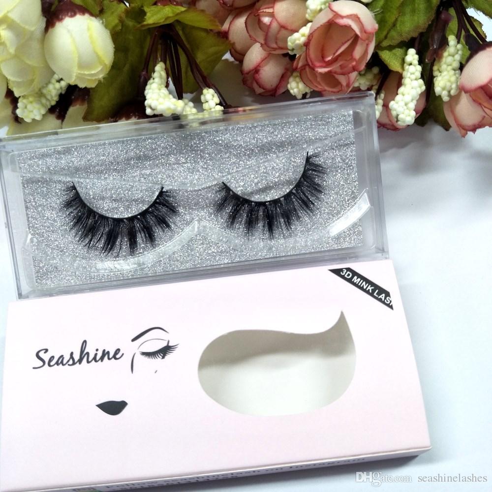 Seashine Luxury Mink Lashes Customize Boxes Mink Lash Sexy 100