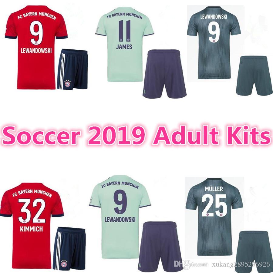 8f1416d9e97 2019 18 19 Bayern Munich Away Champions League Maillot De Foot Adult Kits  TOLISSO 24 LEWANDOWSKI VIDAL COATA ROBBEN Maillots De Football From ...