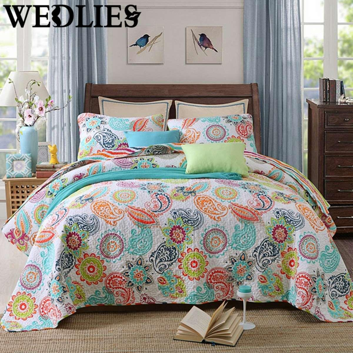 Good Cotton Bedding Set Coverlet Bedspread Patchwork Queen/King Size Paisley  Quilted Home Bedroom Bedding Accessories Bedding And Comforter Sets Bedding  Duvet ...