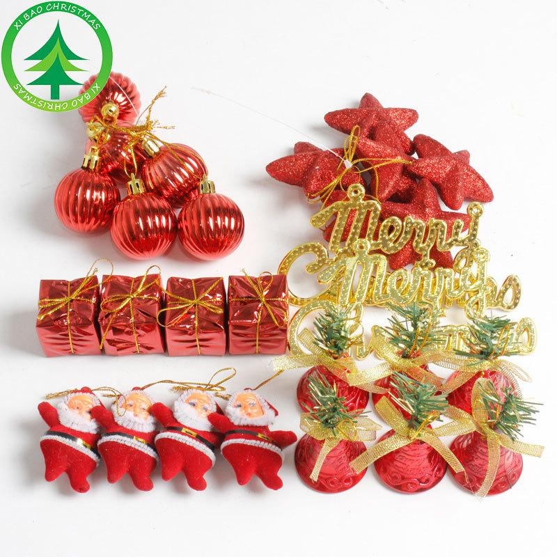 christmas tree ornament pendants sets box santa claus stars balls bells christmas home festival hangings decoration accessories b48 online with 816set on