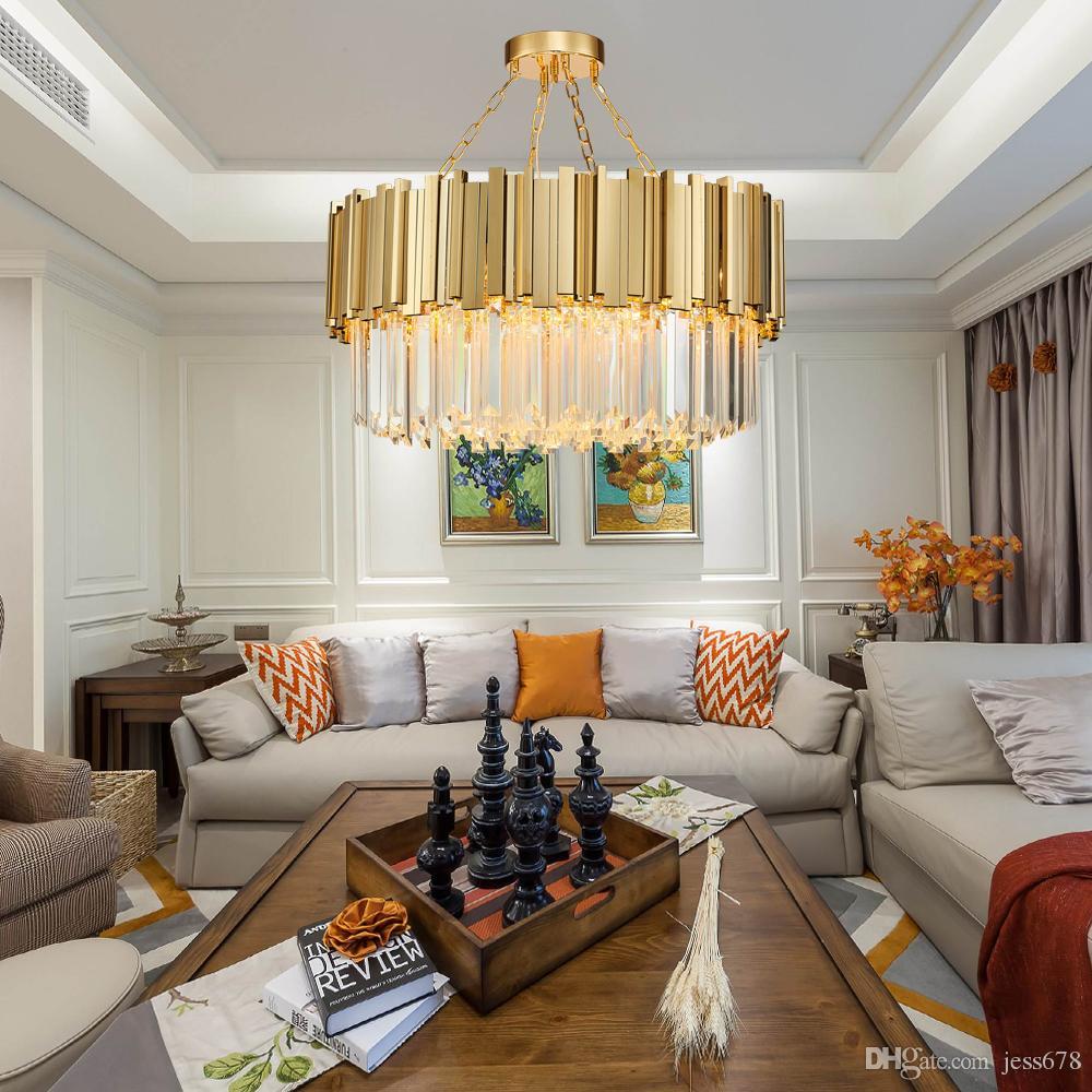 Großhandel JESS Round Modern Kronleuchter Beleuchtung Wohnzimmer ...