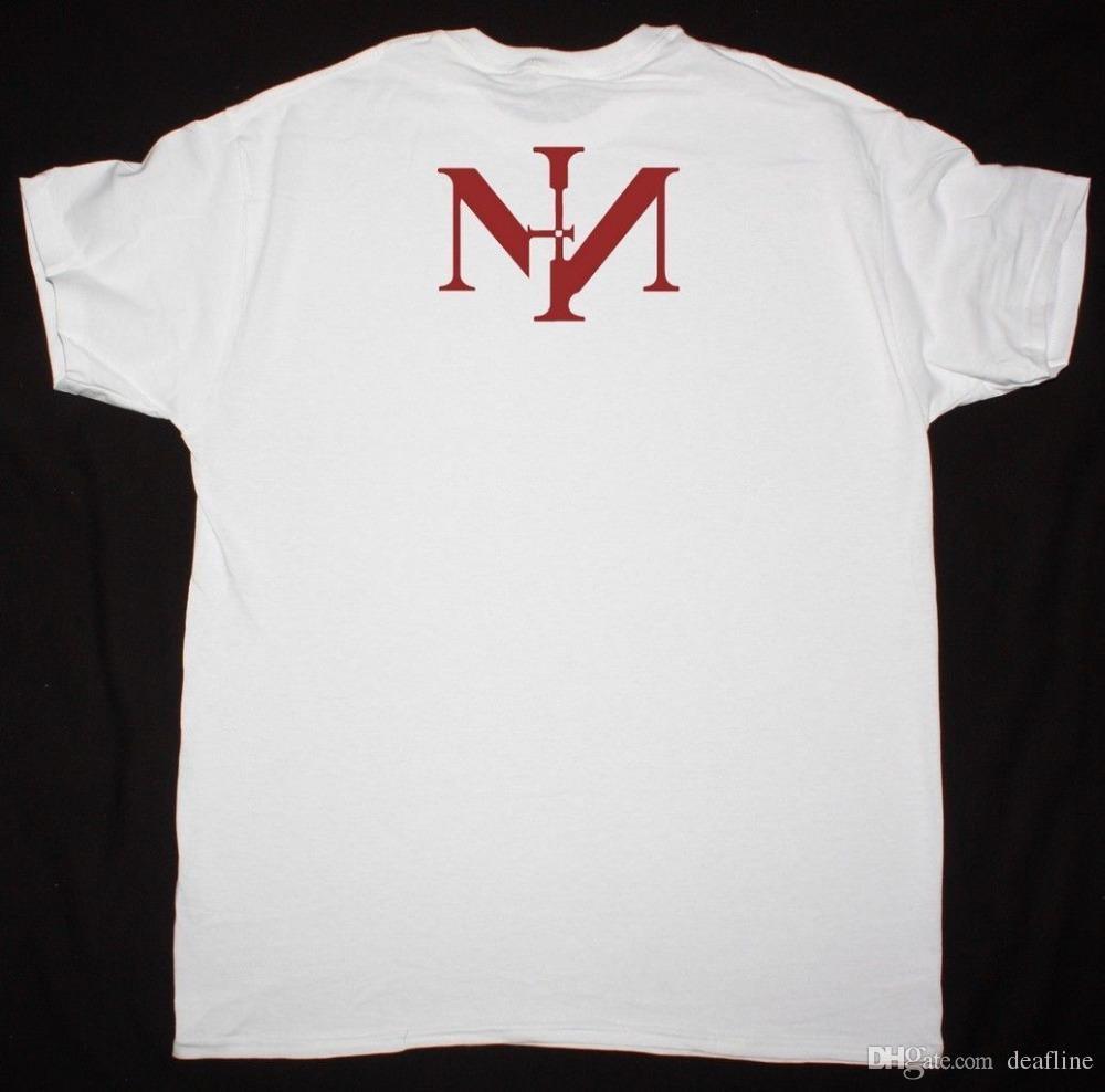 Nine Inch Nails Sin White T Shirt Industrial Metal Trent Reznor Nin ...