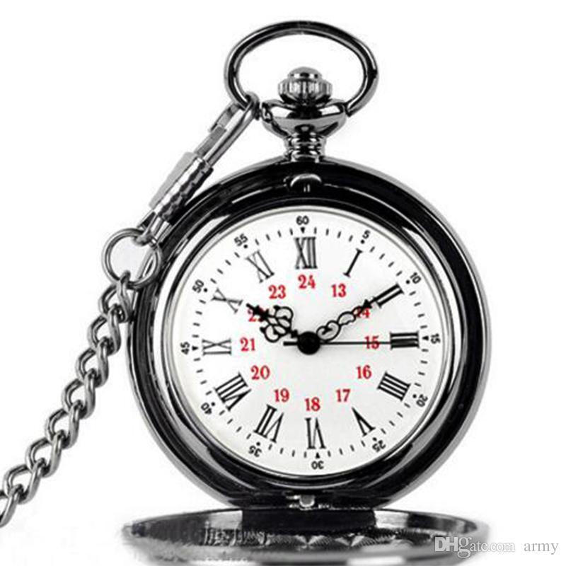 2018 / mix classico orologio da taschino romano orologio da tasca vintage Uomo Donna modelli antichi Tuo orologio da tavolo