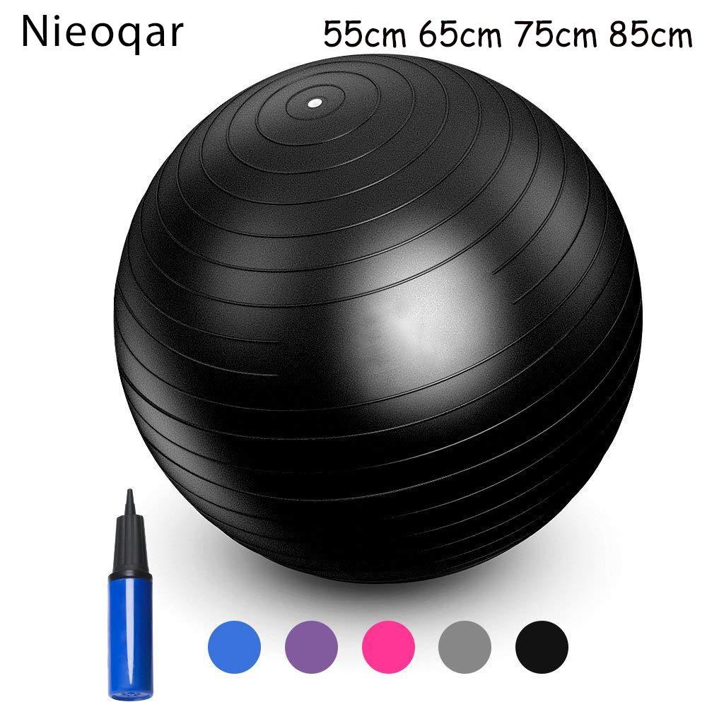 Compre Nieoqar Deportes Bolas De Yoga Bola Pilates Gimnasio Fitness Equilibrio  Ejercicio Fitball Pilates Entrenamiento Masaje Bola 55 Cm 65 Cm 75 Cm 85 Cm  A ... 0e3950749305