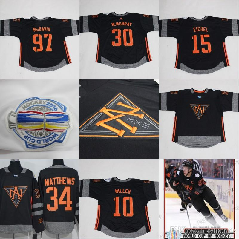 pick up 5dabd 34343 2016 World Cup Of Hockey Team NORTH AMERICAN WCH 20 Brandon Saad 34 Auston  Matthews 97 Connor McDavid 15 Jack Eichel 8 Jacob Trouba Jerseys