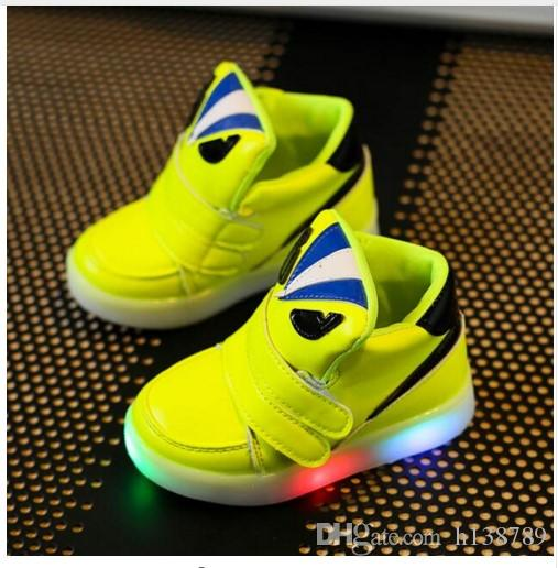 a89a3ce0136fab LED Light Shoes Children Casual Shoes With Light Fashion Glowing Sneakers  Boys Little Girls Shoes Wings Canvas Flats Spring Kds Girl Shoes For Kids  Kids ...