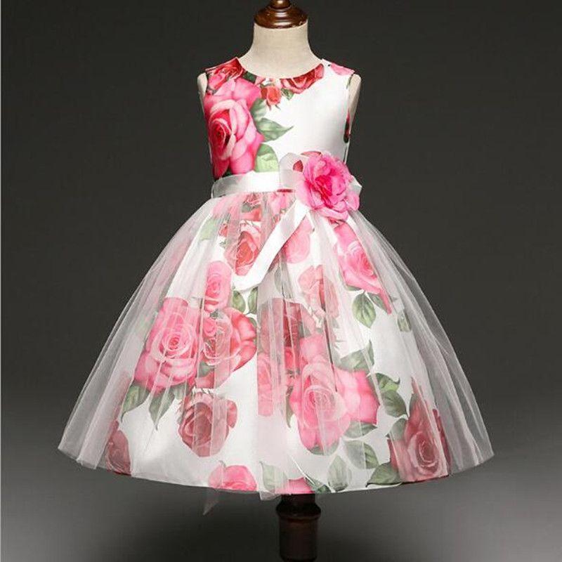 bbb8b9f442f9 2019 Baby Girls Princess Dresses Rose Clothes Girls Show Skirt Girl Dance  Costume Children Flower Girls Clothing Ball Gown XZT026 From Jacyfengwu
