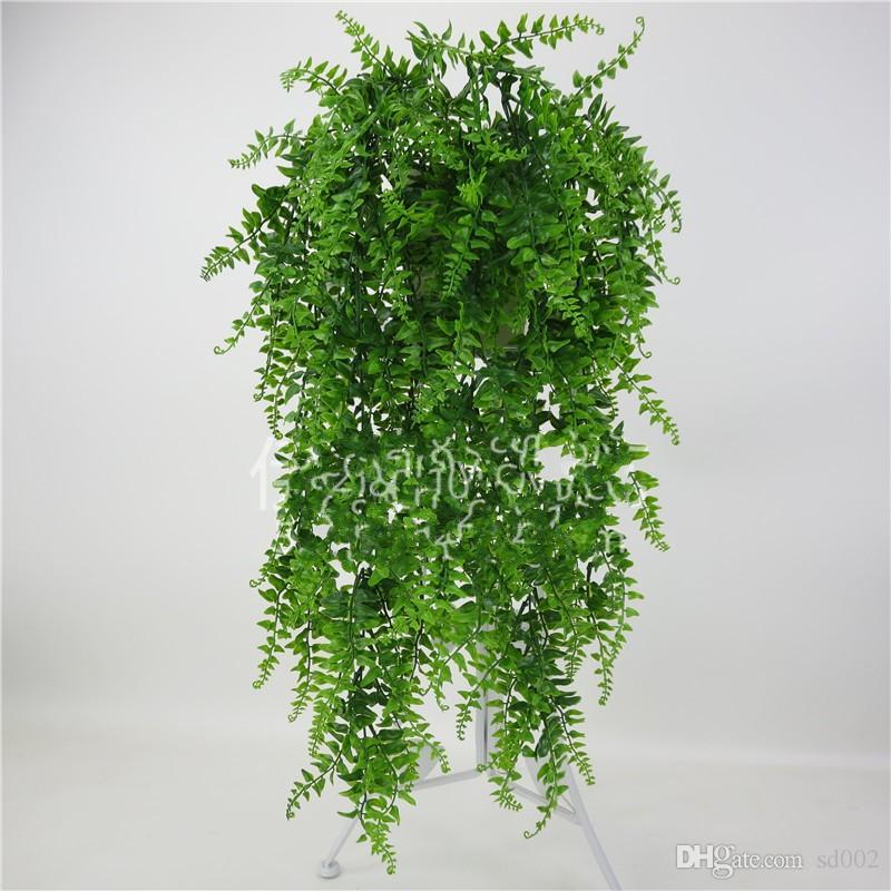 Düğün Dekor Plastik Bitki Yapay Yeşil Duvar Asılı Rattan Yaratıcı Ev Otel Favor Simülasyon Dekor Çiçek Vine Aksesuarla 7 6yy YY