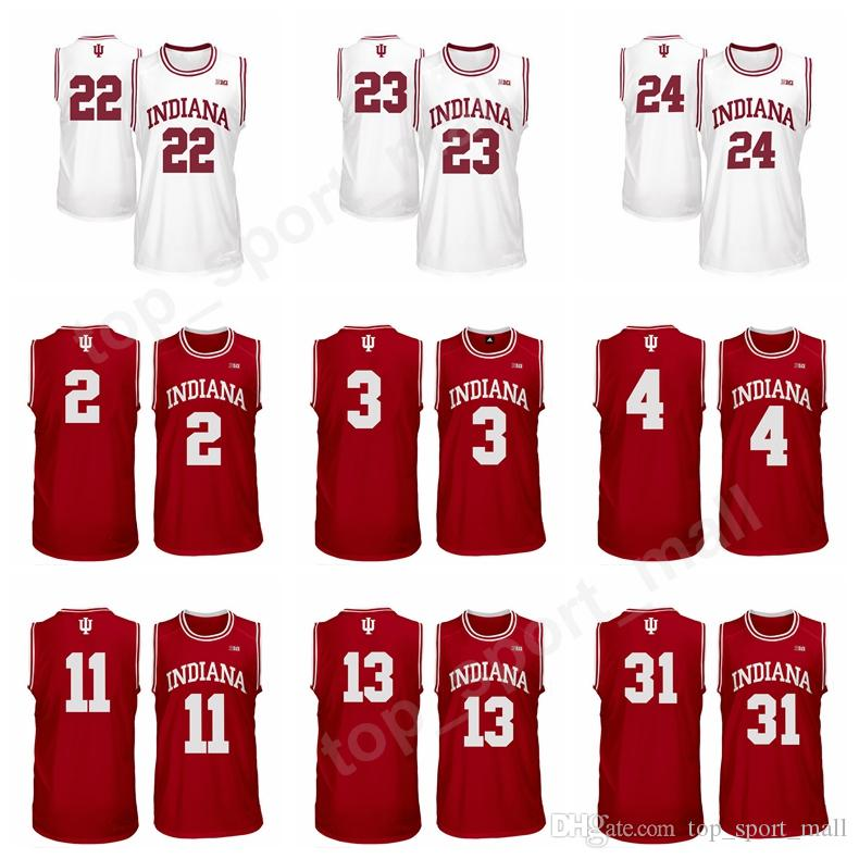 more photos 57bbe afea1 Indiana Hoosiers Jerseys College Basketball 4 Victor Oladipo 23 Eric Gordon  3 OG Anunoby 22 Quentin Taylor Jersey Red White 31 Thomas Bryant