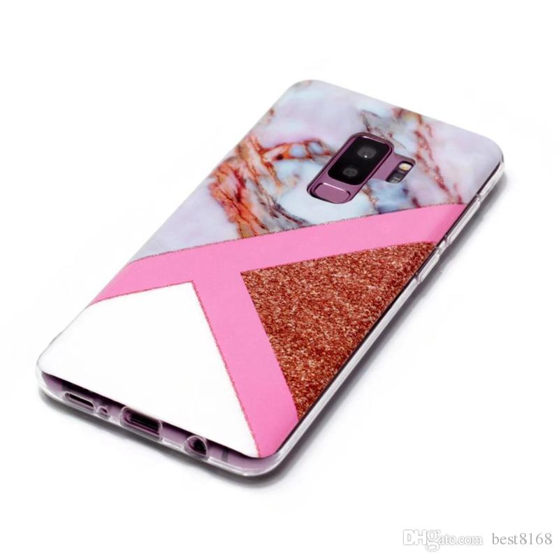 Fashion Soft TPU IMD Case For Galaxy S9 Plus S8 S7 Note 8 A8 2018 Marble Cover Hybrid Natural Silicone Rock Stone Cell Phone Luxury Skin