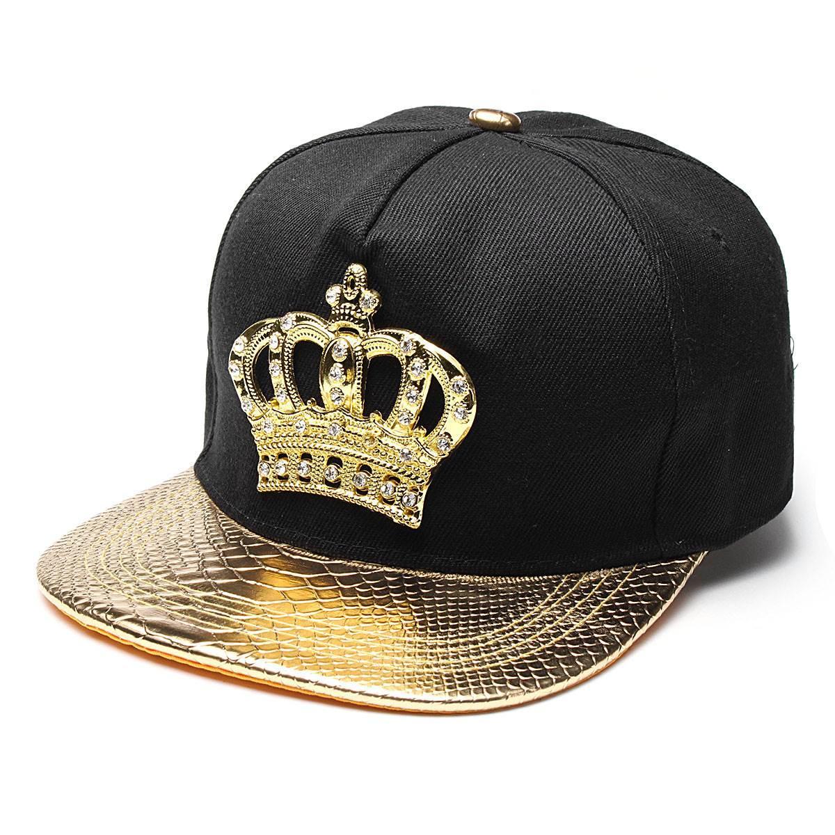 11d8e2b934a Mens Womens Snapback Hat KING Crown Baseball Caps Adjustable Hip Hop Hats  Black Summer Peaked Rhinestone Crystal Sun Cap Baseball Hats Newsboy Cap  From Wdrf ...