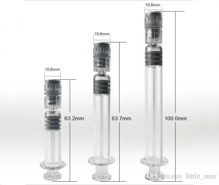 Riempire 1ml siringa di vetro Luer Lock vetro iniettore punta tamponare cera dell'olio di spedizione Strumento libero del DHL