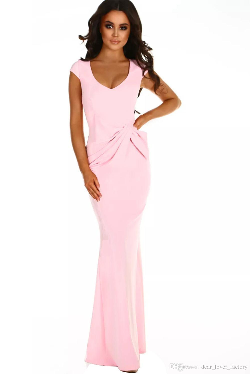 0abc6d372485 Black And Pink Long Dresses - raveitsafe