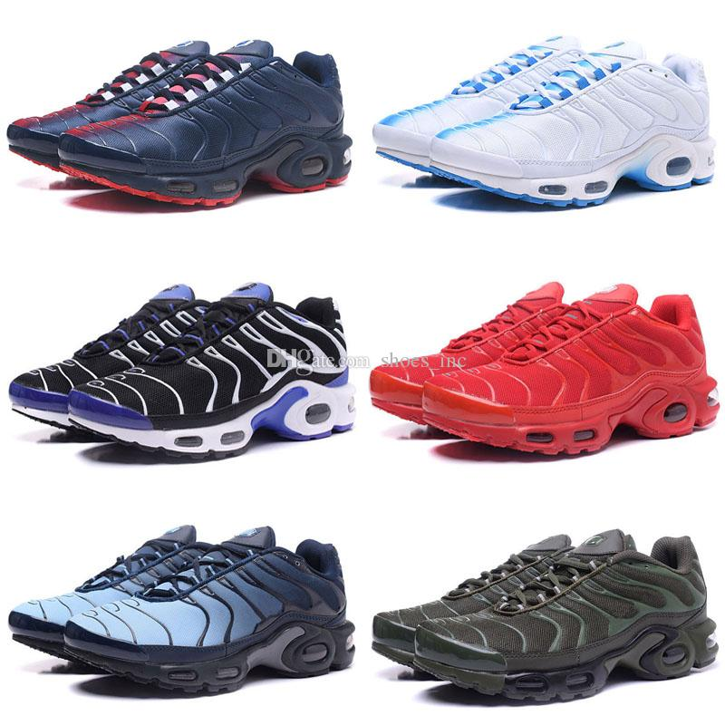 048ade0881d4 2019 2018 New Running Shoes Men TN Shoes Tns Plus Air Fashion Increased  Ventilation Casual Trainers Olive Red Blue Black Sneakers Chausseures From  Shoes inc ...