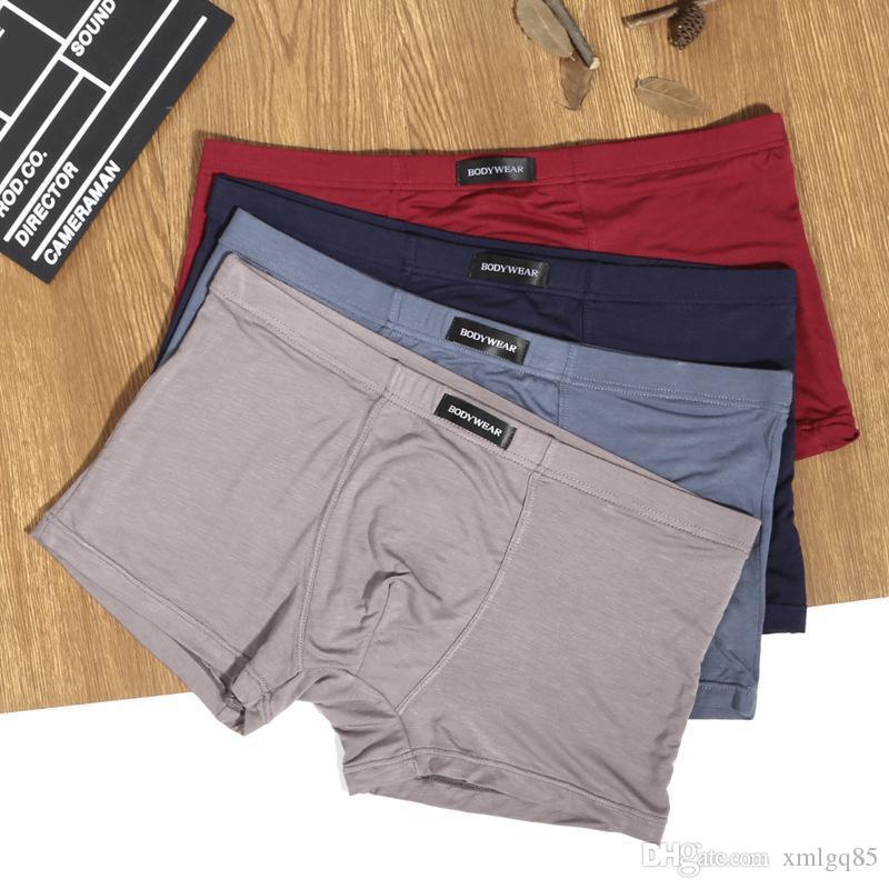 c8c6be5b8 Compre Ventas Directas De Fábrica Ropa Interior De Color Sólido De Los Hombres  Modal Boxer Pantalones Transpirables Cómodos Nuevo Estilo A  22.33 Del ...