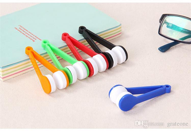 Sun Glasses Eyeglass Microfiber Brush Cleaner New Random Sending Eye Glass Sunglasses Lens Cleaning Wipes DHL free