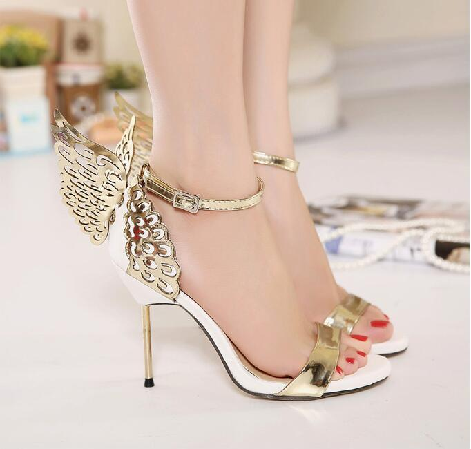 9cdadec7f1c Hot Sale Women Summer Gold Butterfly Sandals Buckle Strap Shoes 11CM  Stiletto High Heels Gold And Silver Online with  90.93 Piece on Shoes8800 s  Store ...