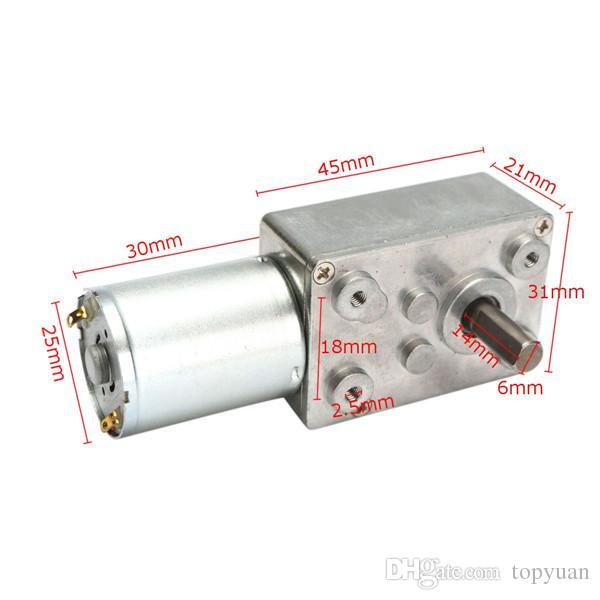 Motor de alto par de la caja de engranajes del metal del motor de la reducción del engranaje de gusano de DC 12V 100rpm